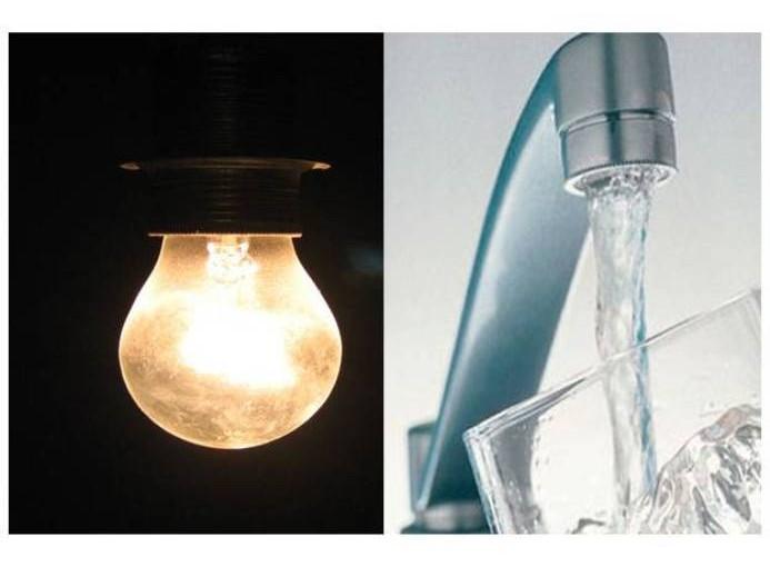 Corte de luz y agua