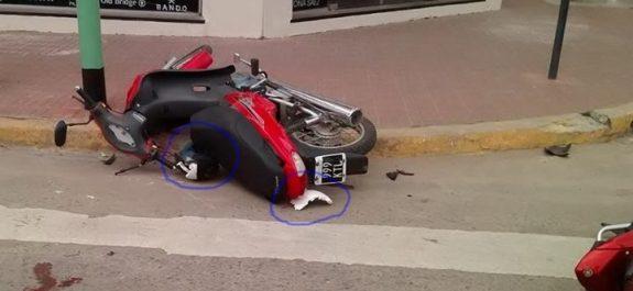 Accidente moto Merlassino