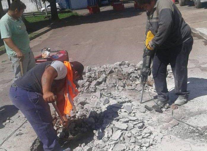 Cortes de calles por reparación y construcción de badén