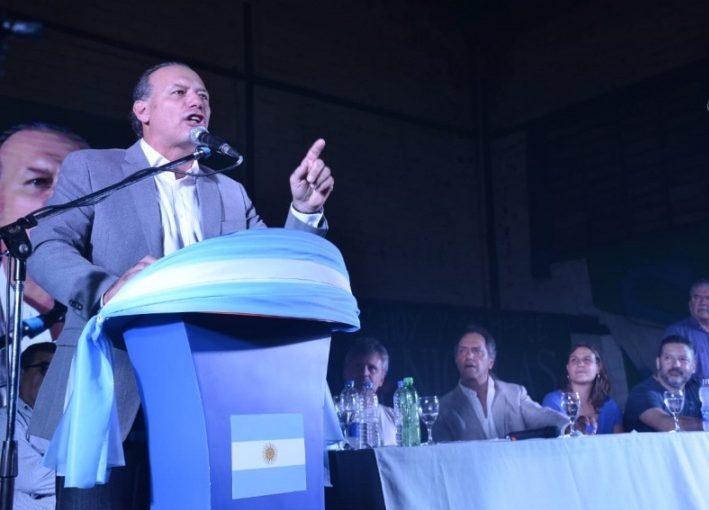 Berni lanzó su candidatura a Gobernador acompañado por Scioli y Di Palma