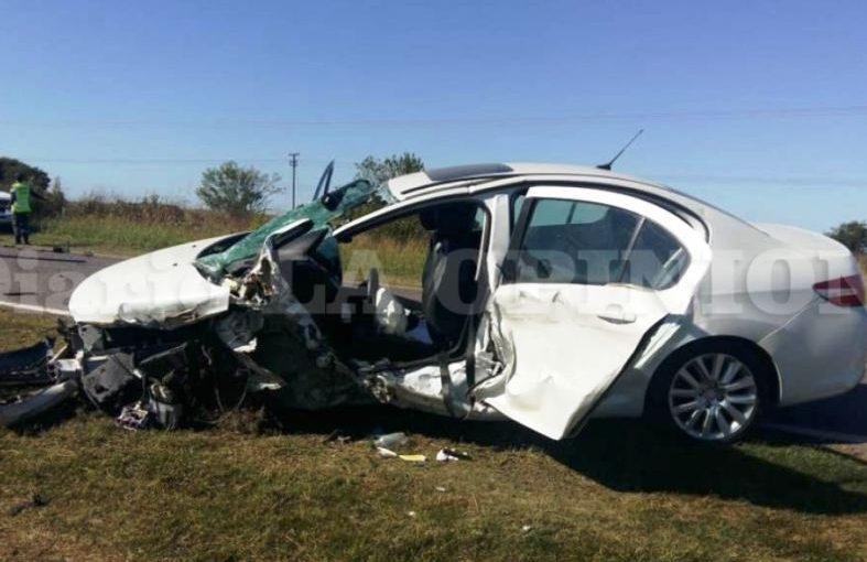 Espectacular accidente en ruta 8