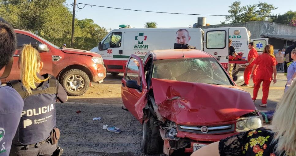 Accidente en ruta 8, en Villa Sanguinetti