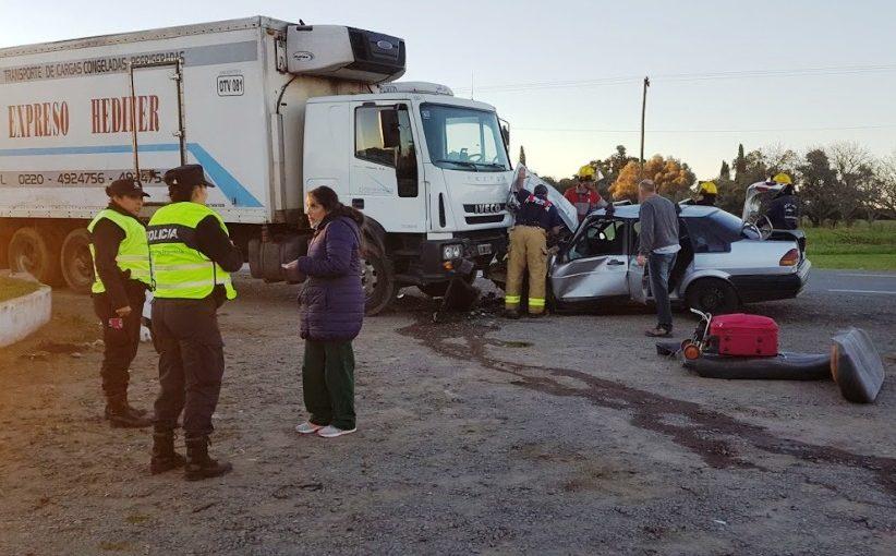 Un muerto en un accidente en ruta 8 y 191