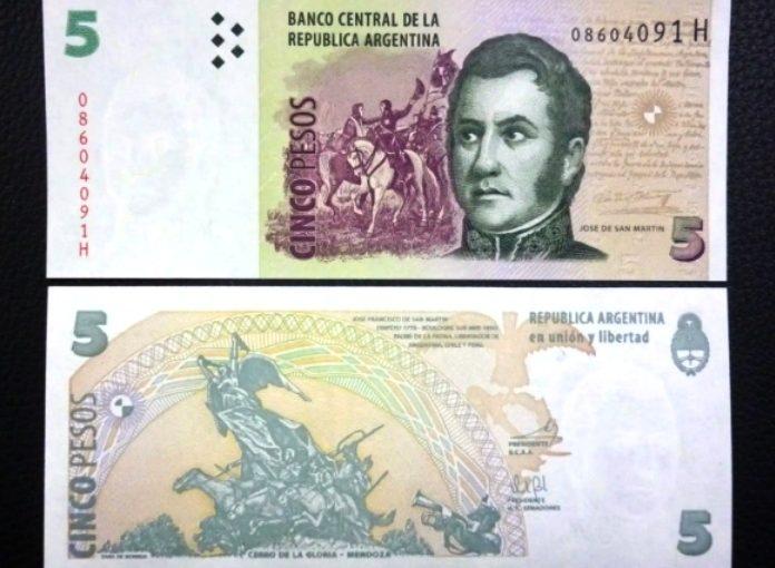 Los billetes de 5 pesos deben aceptarse hasta el 28 de febrero