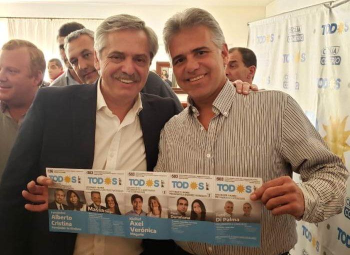 Alberto Fernández: «Queremos que en Arrecifes voten al Pato Di Palma»