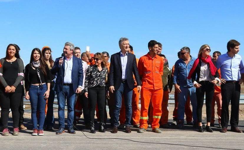 Macri en forzada «inauguración» en Pergamino