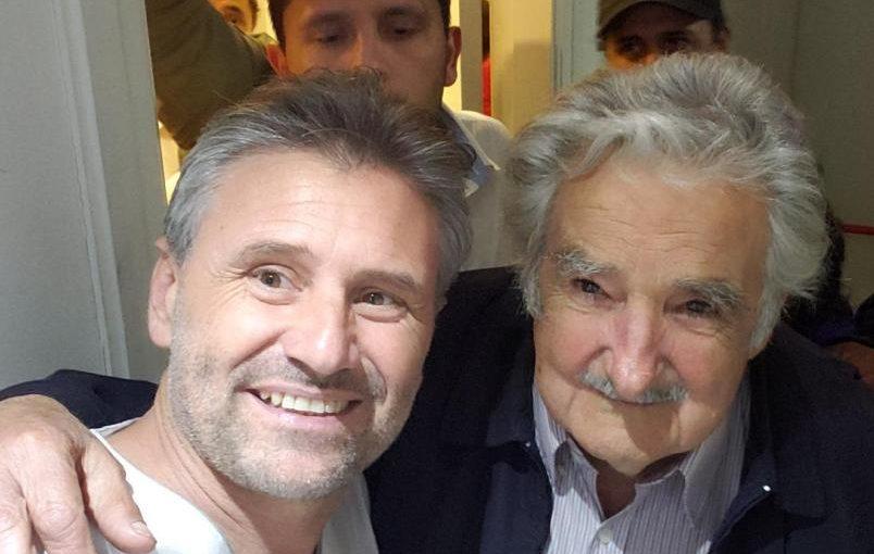 Marcos Di Palma con Pepe Mujica