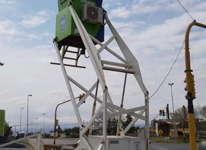 Seguridad: Arrecifes sumó una torre de monitoreo móvil
