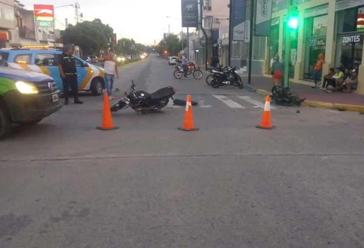Otro grave accidente de motos