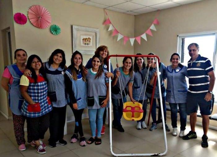 Donación de la Peña de Boca al Jardín Maternal de La Cumbre