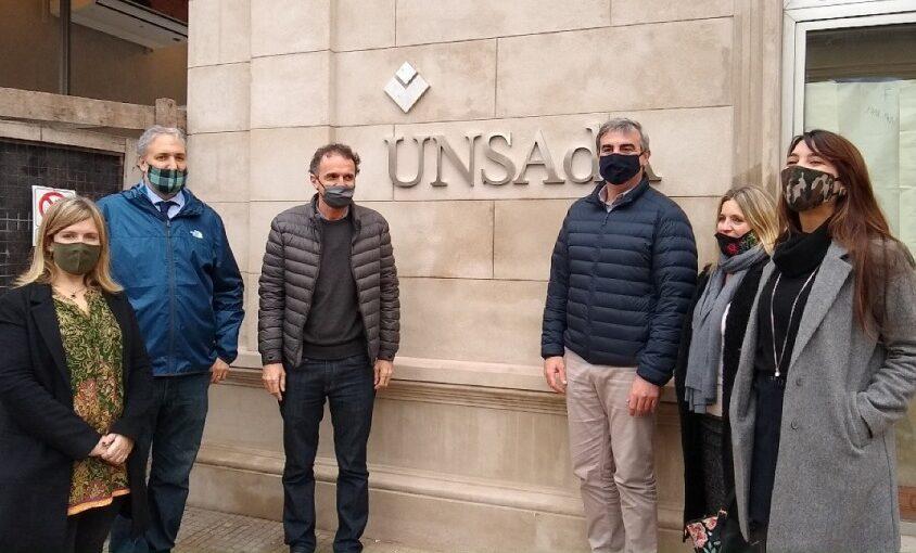 El ministro de Obras Públicas de la Nación visitó las obras de la UNSAdA
