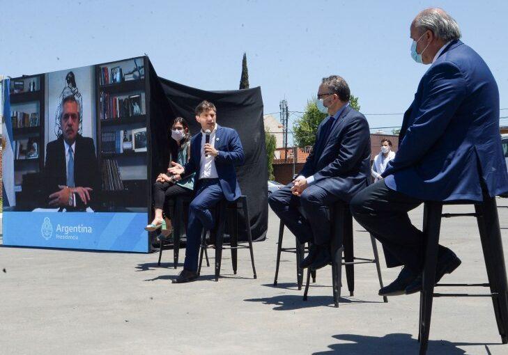 ARREBEEF, CON EL PRESIDENTE FERNÁNDEZ Y EL GOBERNADOR KICILLOF
