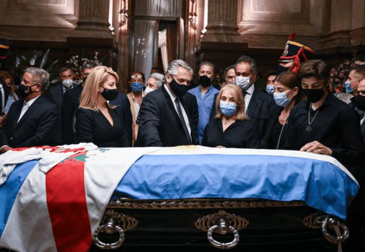 Despiden al expresidente Carlos Menem