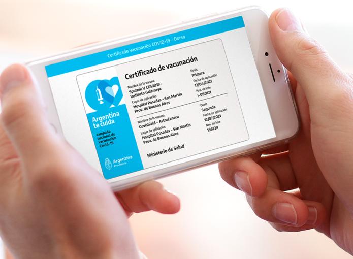 El certificado de vacunación contra el Covid se puede obtener en forma digital