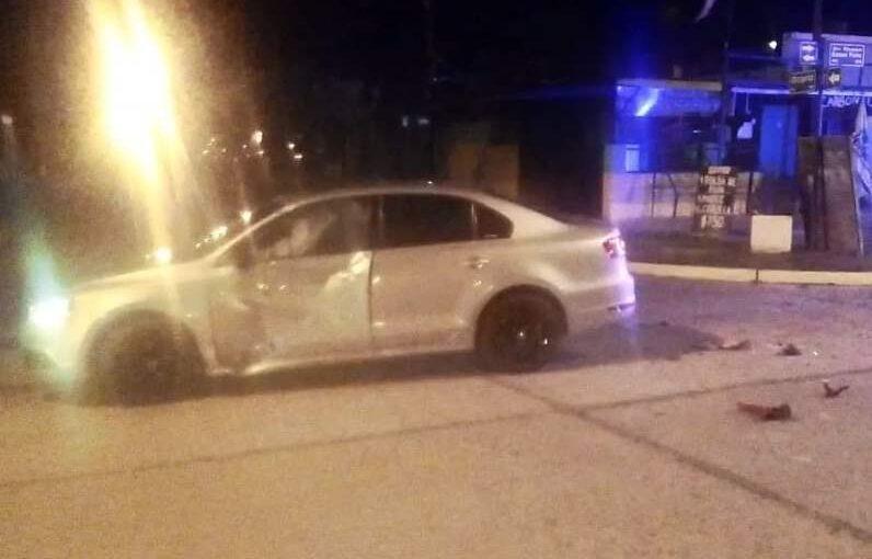 Violento choque en Av. Roque Sáenz Peña